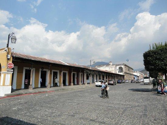 La Plaza (Parque Central): Sector de la Municipalidad.