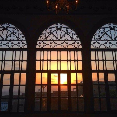 Efendi Hotel: sunset from the Lobi floor 1