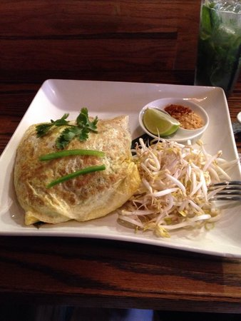 Boda: Pad Thai... It was a little overkill with all the raw sprouts and the egg has a bit of a funky s