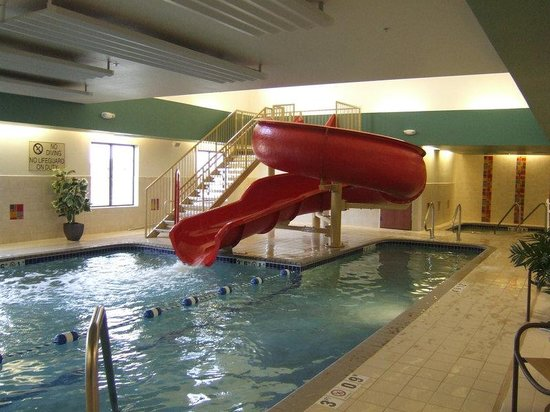 Loveland indoor swimming pool with water slide picture - Holiday inn hotels with swimming pool ...
