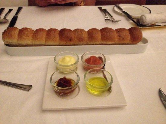 Kayuputi at St. Regis Bali Resort: Hot, fresh, rolls with spreads - delicious