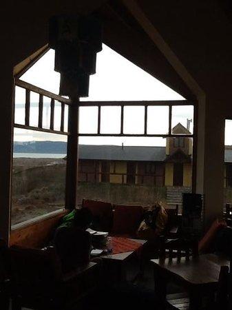 America del Sur Hostel: aufenthaltsraum umd Aussicht