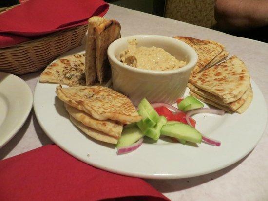 Tony and Luigi's: hummus and pita bread