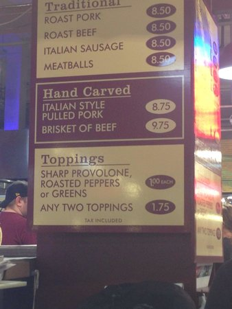Reading Terminal Market: Best brisket sand around