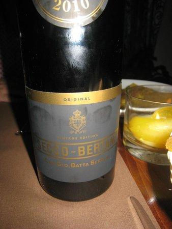 Trattoria Antico Tannino: Wine