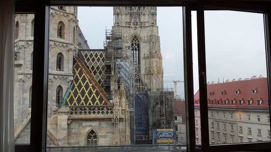Hotel Am Stephansplatz: The Cathedral is to large to capture in one shot.