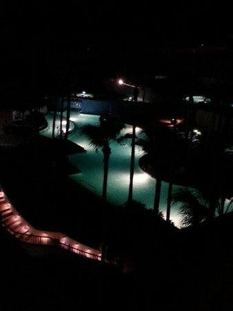 Pearl South Padre: Pool at night