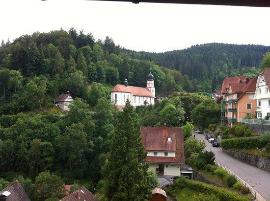 BEST WESTERN PLUS Hotel Schwarzwald Residenz: Uitzicht vanaf ons balkon