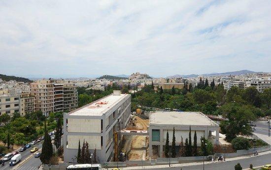 Hilton Athens: Veranda view from 8th floor King Rm