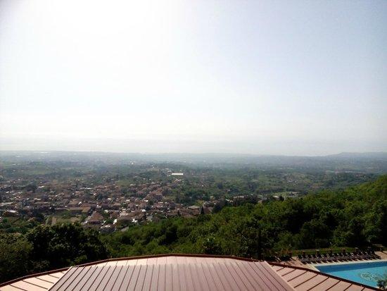 Airone Wellness Hotel: Vista dal terrazzo della camera