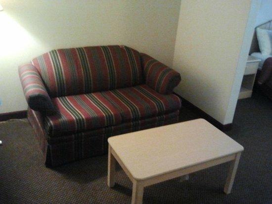 Days Inn Kansas City International Airport: Small sofa