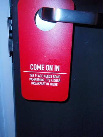 The Concierge Boutique Bungalows: Funny door tag