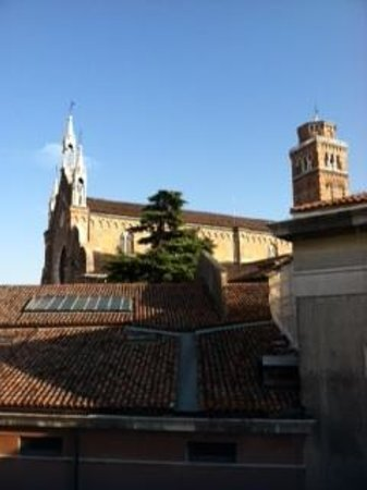 Ca' Badoer Dei Barbacani: View from the South Studio of the Frari church--listen for the bells!