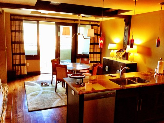 Lumiere Telluride: From the kitchen, to the dining room, to the terrace.