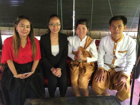 Petit Villa Boutique & Spa : owner with Chou Eng,Chamroeun and Chhay Leng