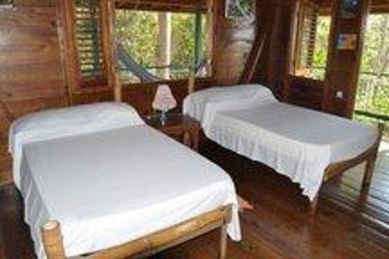 Harding Hall : Bedroom with hammocks on verandah