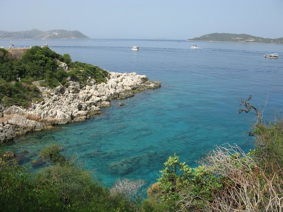 Hotel Kekova: Harbor toward the mediterranean
