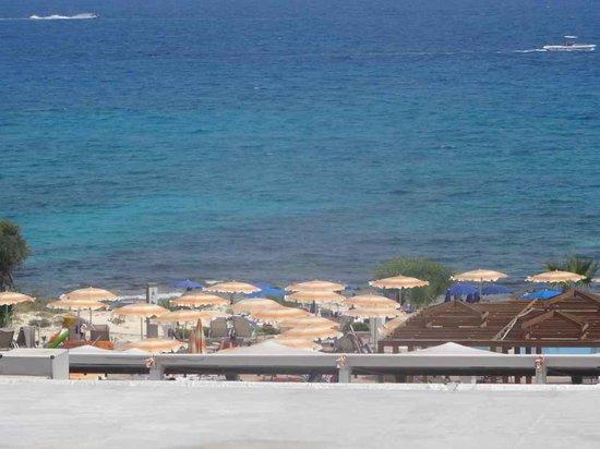 Asterias Beach Hotel : plage vu depuis la piscine
