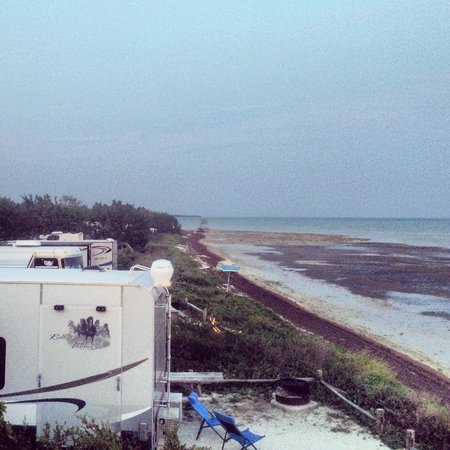 Long Key State Recreation Area: View of the Ocean from our RV at Long Key State Park