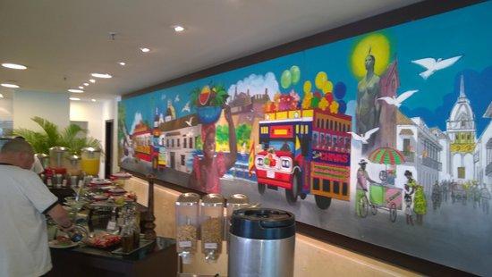 Hilton Cartagena: mural en restaurant