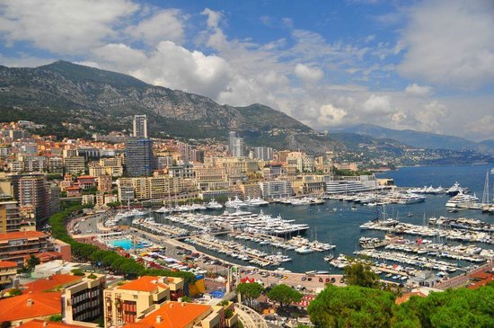 Monte Carlo Harbor: The harbor from the Grimaldi family digs