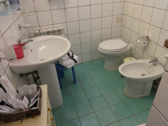 Albis Rooms: Bathroom with bidet - great for washing off those dusty tourist feet!