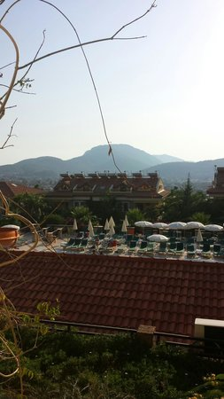 Perdikia Hill: View from bedroom window.
