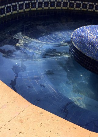 Fiesta Americana Condesa Cancun All Inclusive: The pool waters are uncleaned and oily they are also full of trash and even the tiles are yellow