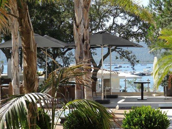 Hotel Don Cesar & Spa Nuxe : Vue de la terrasse du restaurant