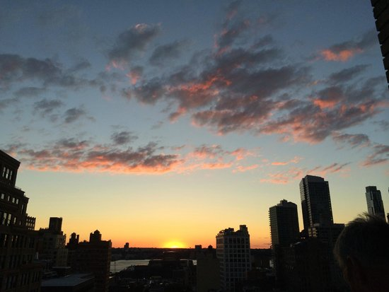 TRYP New York City Times Square South: Sunset over Hudson from balcony