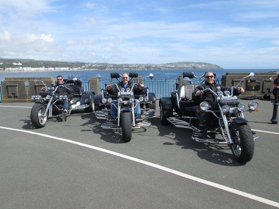 IOM Trike Tours: All three trikes ready to go!
