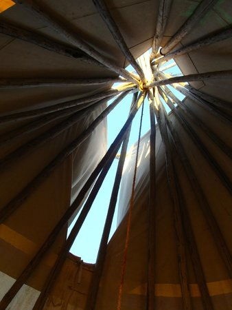Dupuyer, MT: Inside the teepee