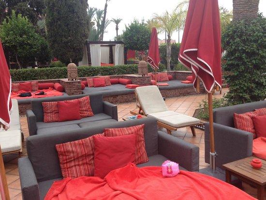 Sofitel Marrakech Lounge and Spa: Beaucoup de brique, très peu de jardin !