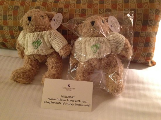 Gainey Suites Hotel: Take-me-home teddy bears