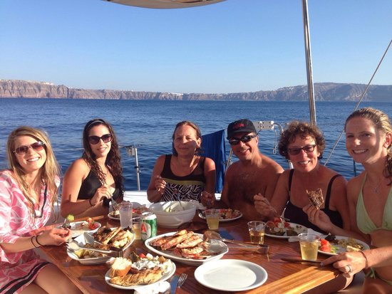 Sunset Oia Sailing Cruises: Best meal