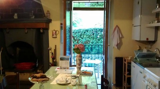 Holidays in Gittana: view from our kitchen