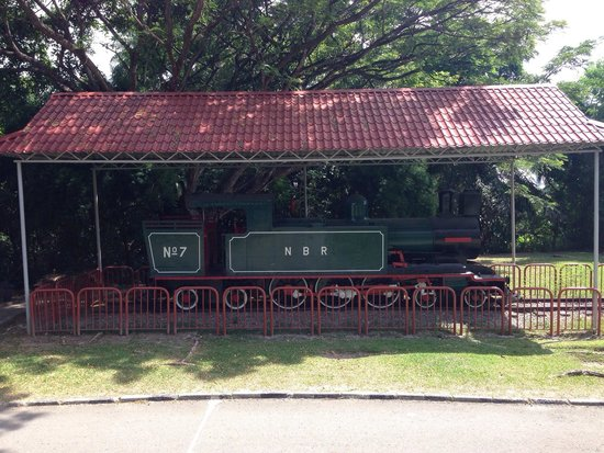 Sabah State Museum: Old North Borneo Steam Railway engine on display