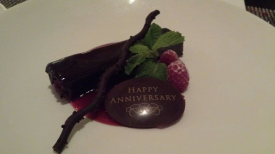 The Royal Hawaiian, a Luxury Collection Resort: special desert for anniversary at Azure