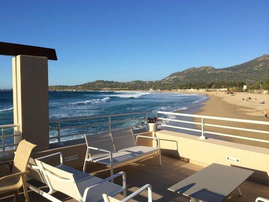 Hotel Beau Rivage : Terrasse