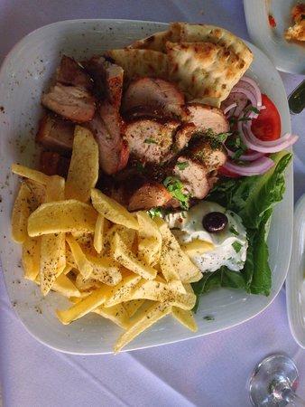 Veranda: The pork gyros!