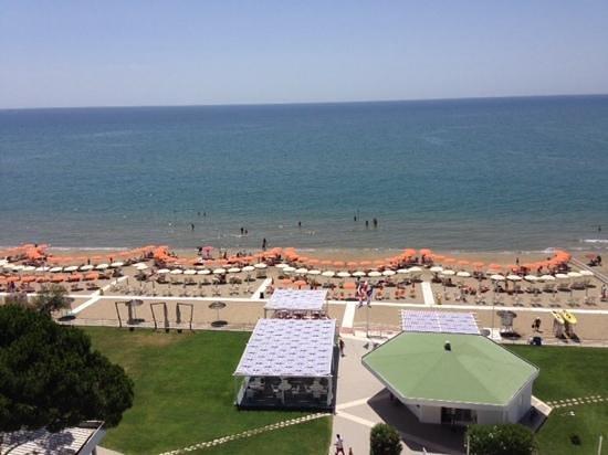 Hotel Torre del Sole: panorama camera vista mare settimo piano