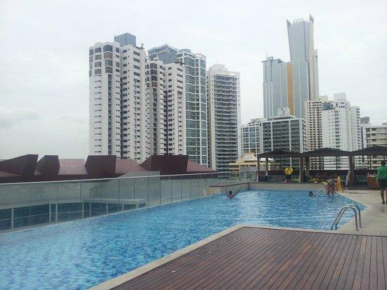 Hard Rock Hotel Panama Megapolis: Vista del ultimo piso.