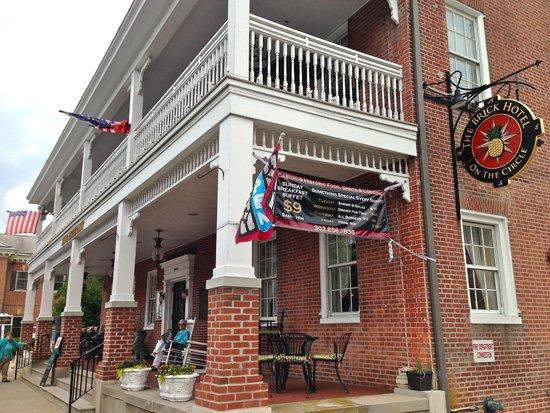 The Brick Restaurant & Tavern: The porch of the tavern/inn