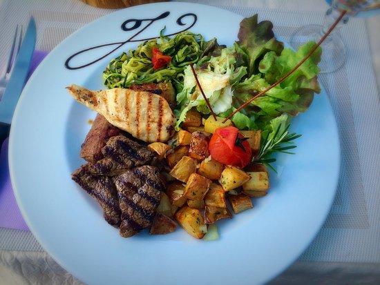 L'Olivier de Paiolive : Menu du jour a l'ardoise mixed grill