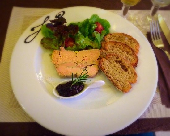 L'Olivier de Paiolive : Foie gras maison et chutney de figues