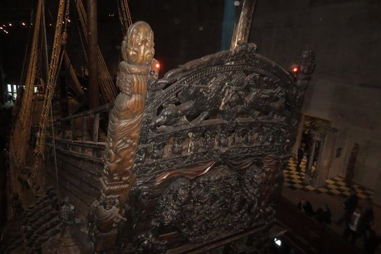 Vasa-Museum: The ship's stern