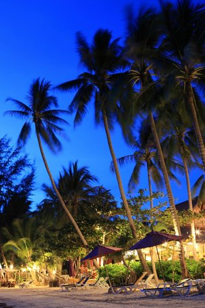The Passage Samui Villas & Resort: the beach at night
