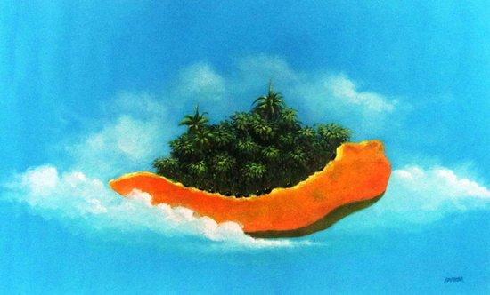 Weil Art Gallery: La isla flotante en acrílico por Idielgo Perez
