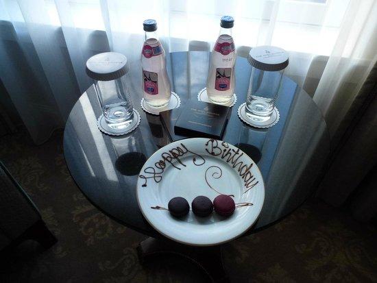 The Shelbourne Dublin, A Renaissance Hotel: On arrival a birthday treat