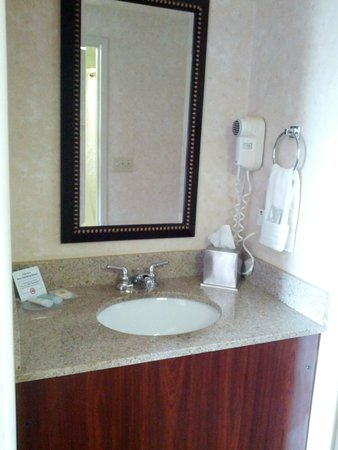 Comfort Inn Airport: Sink right outside bathroom